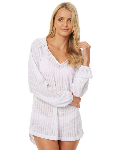 WHITE WOMENS SWIMWEAR BILLABONG OVERSWIM - 6571151WHT