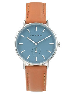 STEEL BLUE TAN MENS ACCESSORIES THE HORSE WATCHES - AS01-5SBLUT