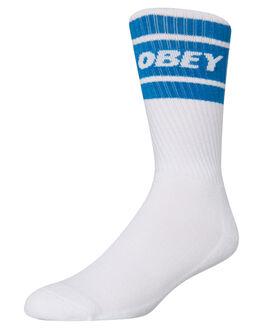 WHITE SKY BLUE MENS CLOTHING OBEY SOCKS + UNDERWEAR - 100260093SKY
