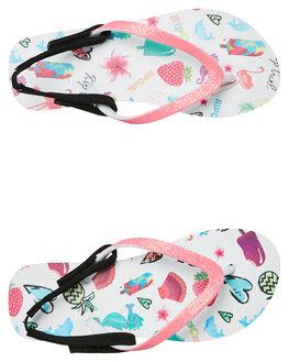 PINK KIDS GIRLS RIP CURL FOOTWEAR - TOTD04T0020