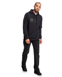 BLACK MENS CLOTHING DC SHOES JUMPERS - EDYSF03207-KVJ0