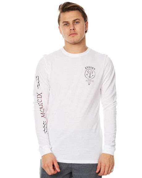 WHITE MENS CLOTHING HURLEY TEES - AMTLDSTY10A