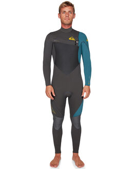 JET BLACK BLUE STEEL BOARDSPORTS SURF QUIKSILVER MENS - EQYW103060-XKBS