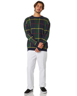 GREEN CHECK MENS CLOTHING STUSSY KNITS + CARDIGANS - ST097300GRNCH