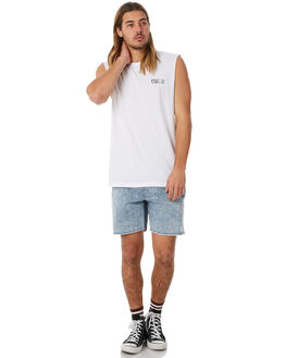 WHITE MENS CLOTHING AFENDS SINGLETS - M183081WHT