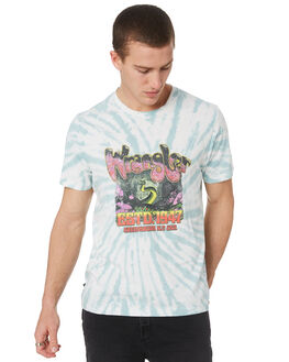 BLACK TIE DYE MENS CLOTHING WRANGLER TEES - W901692717BLKTD