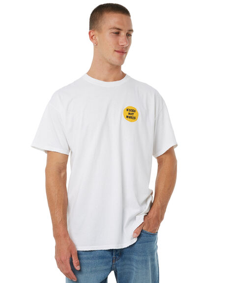 WHITE MENS CLOTHING DEAD KOOKS TEES - DKSSTEE12WHT