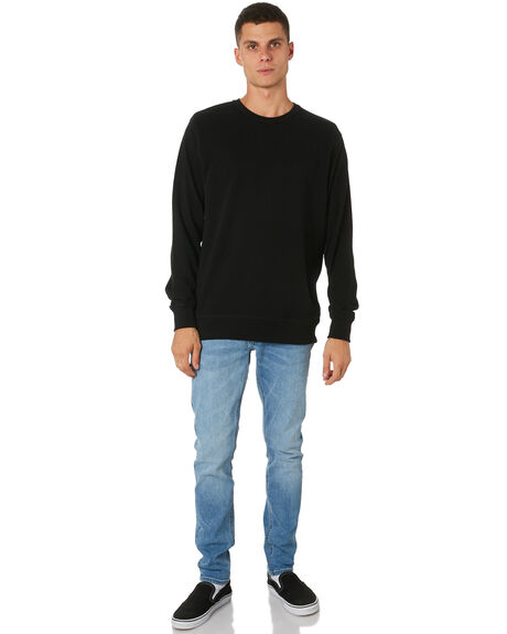BLACK MENS CLOTHING AS COLOUR JUMPERS - 5121BLK