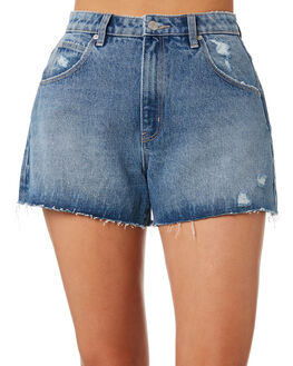 90S BLUE WOMENS CLOTHING ROLLAS SHORTS - 12795-829