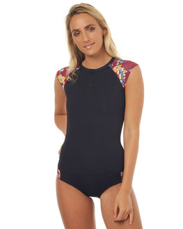 BLACK KAUAI SURF RASHVESTS SWELL WOMENS - S8171349BLKAU