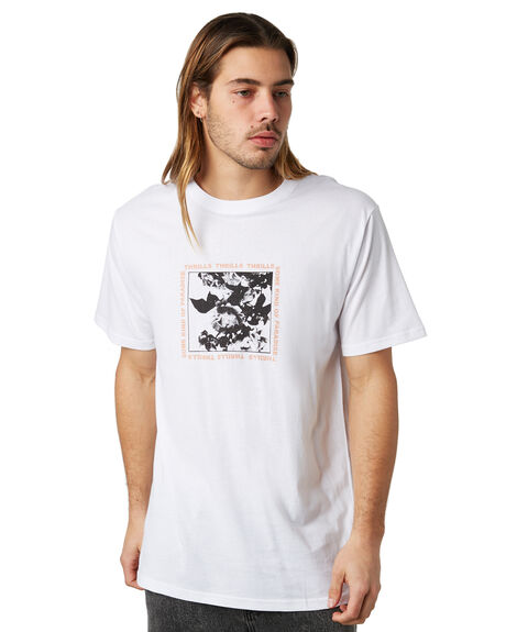 WHITE MENS CLOTHING THRILLS TEES - TW8-113AWHT