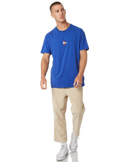 ROYAL BLUE MENS CLOTHING STUSSY TEES - ST073014RYBLU