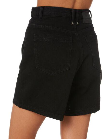 BLACK RINSE WOMENS CLOTHING THRILLS SHORTS - WTDP-331BR_BLKR