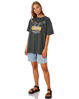 MERCH BLACK WOMENS CLOTHING THRILLS TEES - WTS9-109MBBLK