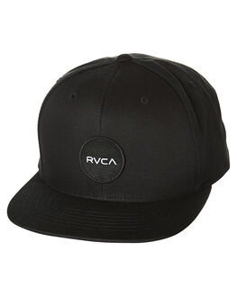 BLACK MENS ACCESSORIES RVCA HEADWEAR - R152565ABLK