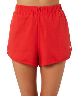 RED WOMENS CLOTHING STUSSY SHORTS - ST182600RED