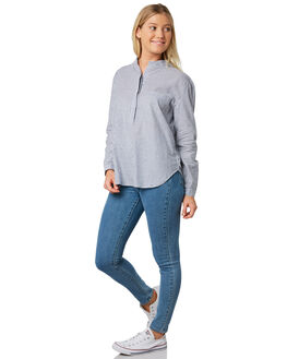 NAVY STRIPE WOMENS CLOTHING ELWOOD FASHION TOPS - W91309JF6