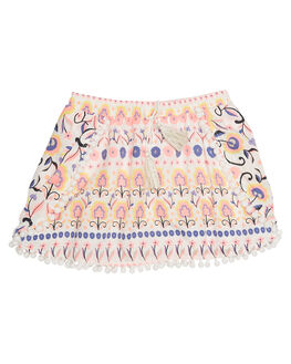 PINK FOLKY PRINT KIDS TODDLER GIRLS EVES SISTER SKIRTS - 8000066PRNT