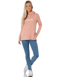 TERRA BLUSH HEATHER WOMENS CLOTHING HURLEY JUMPERS - AJ3609-214