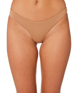HAZELNUT WOMENS SWIMWEAR STONE FOX SWIM BIKINI BOTTOMS - 1006BHAZ