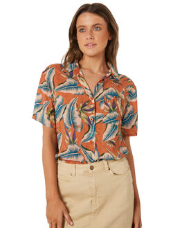 RUST WOMENS CLOTHING BILLABONG FASHION TOPS - 6582110R02