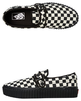 BLACK WHITE WOMENS FOOTWEAR VANS SNEAKERS - SSVN0A4U1BTYQBLKWW