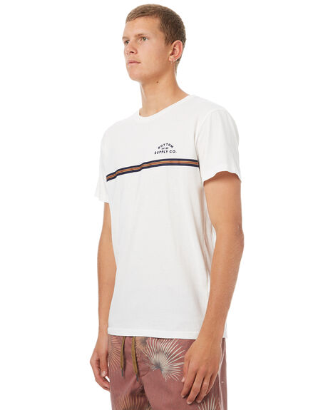 WHITE MENS CLOTHING RHYTHM TEES - OCT17M-CT07-WHT