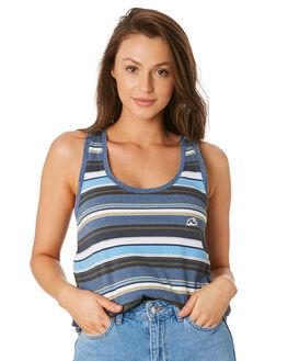 SEA BLUE WOMENS CLOTHING RUSTY SINGLETS - TSL0570SEA