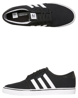 BLACK WHITE MENS FOOTWEAR ADIDAS SKATE SHOES - SSF37427BLKM