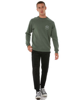 WASHED CHIVE MENS CLOTHING BRIXTON JUMPERS - 02450WSCHV