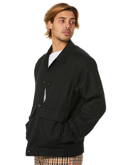 BLACK MENS CLOTHING BARNEY COOLS JACKETS - 502-Q120BLK