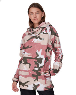 DUSTY ROSE CAMO WOMENS CLOTHING DC SHOES JUMPERS - EDJFT03063-MKP6