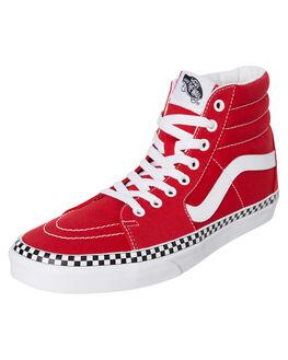 RED WOMENS FOOTWEAR VANS SNEAKERS - SSVNA38GECS5W