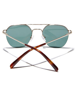 POLISHED GOLD MENS ACCESSORIES LOCAL SUPPLY SUNGLASSES - RAILWAYGDP2PGLD