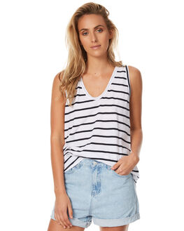 STRIPE WOMENS CLOTHING ASSEMBLY SINGLETS - AW-S1709STR