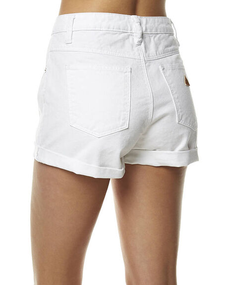 WHITE OUT WOMENS CLOTHING A.BRAND SHORTS - 70152AWHIO