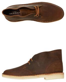BEESWAX MENS FOOTWEAR CLARKS ORIGINALS BOOTS - SSDESERTBOOTBEESM