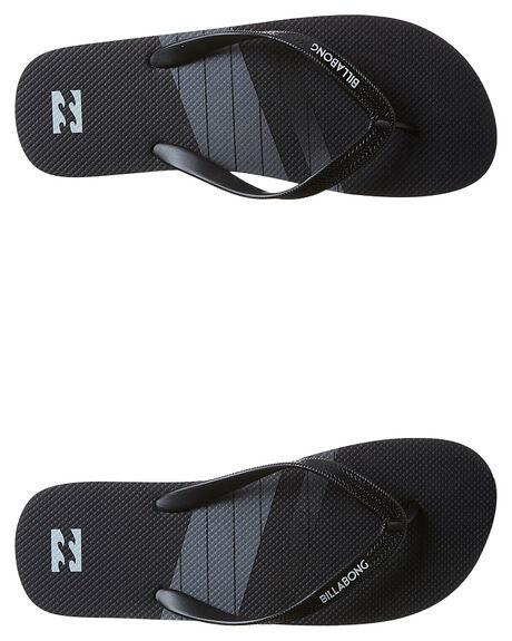 BLACK MENS FOOTWEAR BILLABONG THONGS - 9675937BLK