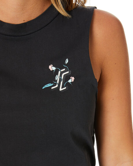 BLACK WOMENS CLOTHING SANTA CRUZ DRESSES - SC-WDC0218BLK