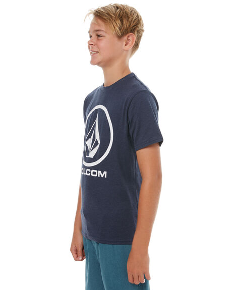 NAVY MARLE KIDS BOYS VOLCOM TOPS - C57117G1NVM