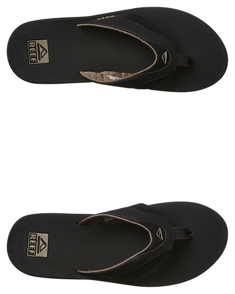 298caa54de01 Reef Fanning Thong - Black Brown