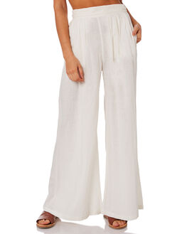 WHITE WOMENS CLOTHING TIGERLILY PANTS - T395377WHT