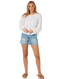 WHITE WOMENS CLOTHING THE HIDDEN WAY FASHION TOPS - H8203166WHITE