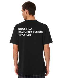 BLACK MENS CLOTHING STUSSY TEES - ST005008BLK