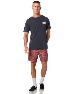 RED MENS CLOTHING RVCA BOARDSHORTS - R393406RED