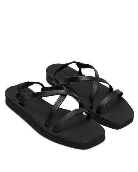 BLACK WOMENS FOOTWEAR SOL SANA FASHION SANDALS - SS201S248BLK
