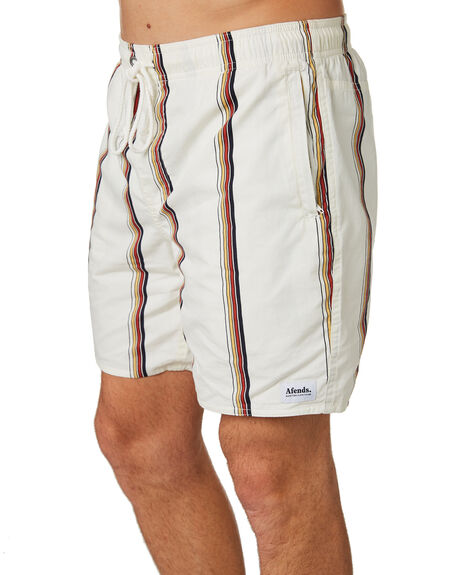 CREAM MENS CLOTHING AFENDS BOARDSHORTS - M184351CRE