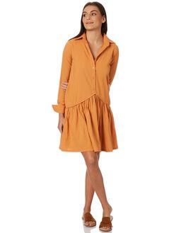 BURNT ORANGE WOMENS CLOTHING RUE STIIC DRESSES - SW18-30BOBORG