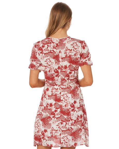 RUST PRINT OUTLET WOMENS ELWOOD DRESSES - W947176KJ