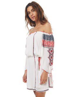 WHITE WOMENS CLOTHING TIGERLILY DRESSES - T371416WHT
